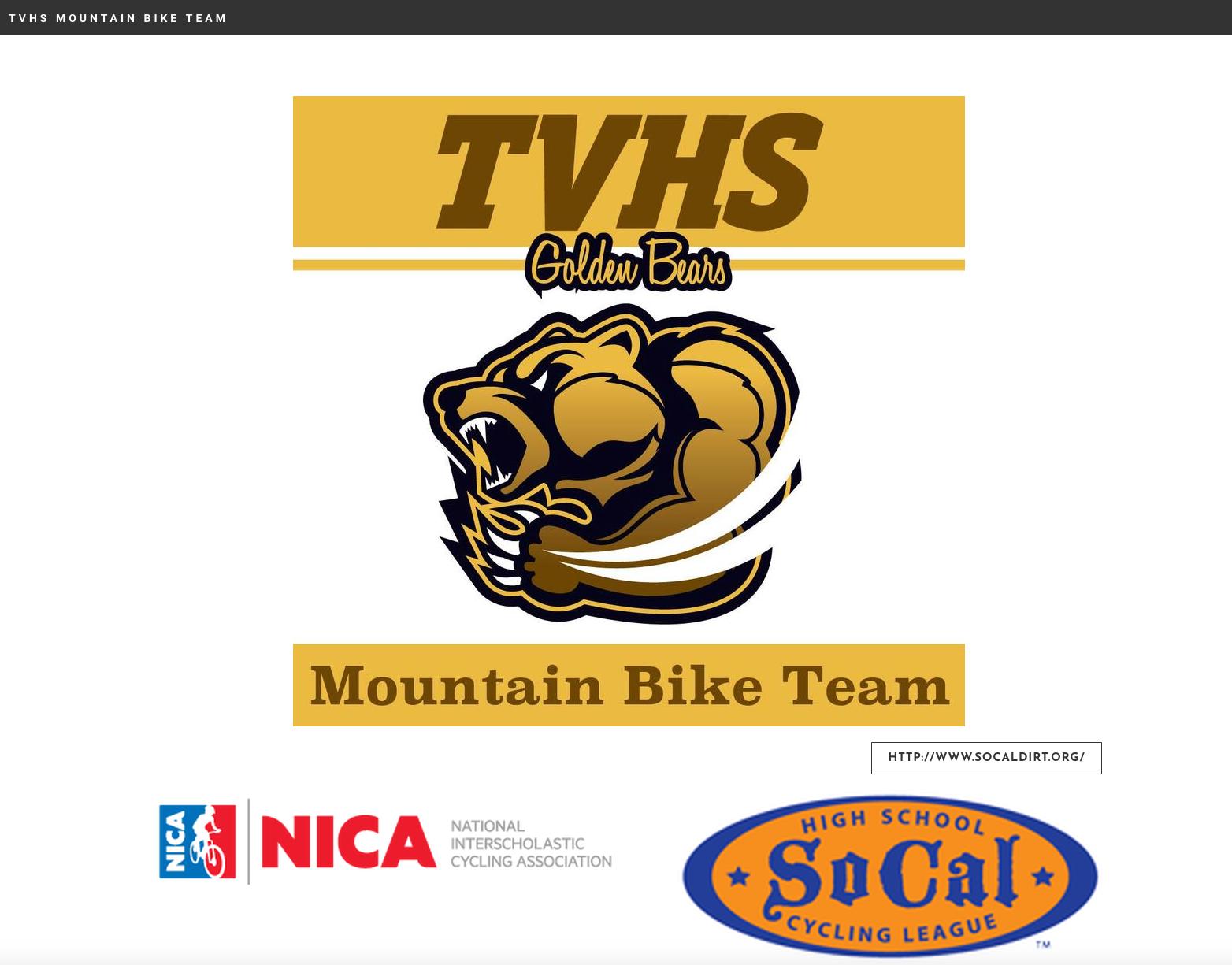 Mountain Bike Team Tvhs Golden Bear Foundation